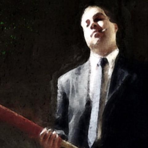 Saludando a Max Payne en el sótano del <a href=