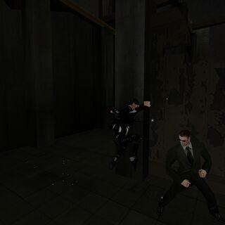 Cara a cara contra un Agente.