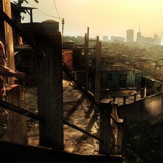 <i>Las favelas de Sao Paulo, un crudo contraste comparado con su creciente metrópolis</i>