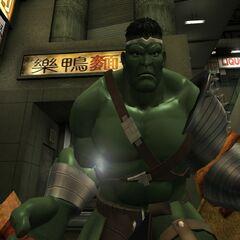 Hulk (en su apariencia de gladiador), uno de los tantos invitados especiales.