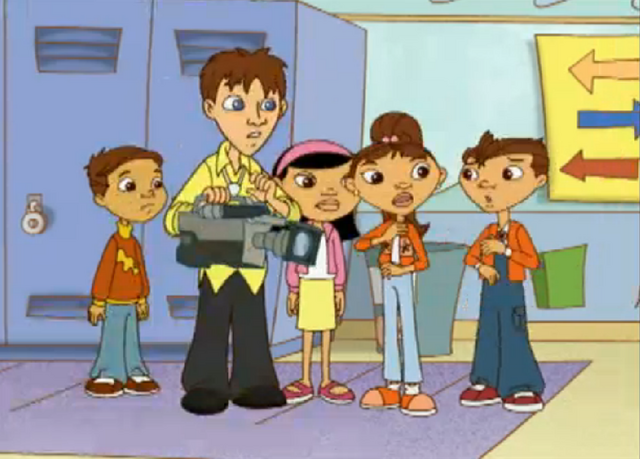 File:Maya, Miguel, Chrissy, Camera Man, and unknown boy.png