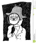 Sherlock-holmes-magnifying-eye-illustration-kids-33438546