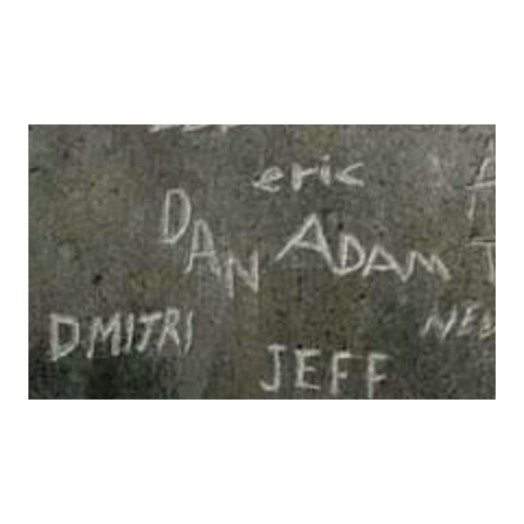 Dan's name as seen engraved on the wall
