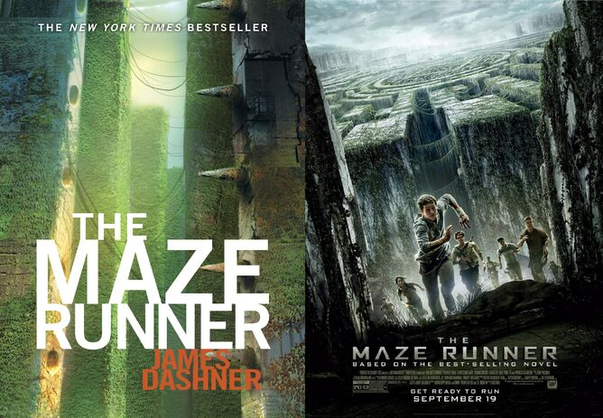 Maze Runner Book Cover and Movie Poster