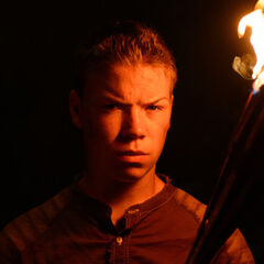 Gally with a torch