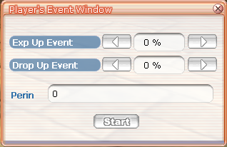Player Event Manager window
