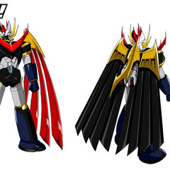 Concept art with Emperor Blade's separate and combine form