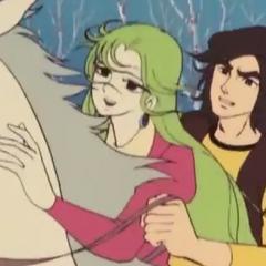 Duke and Naida riding a horse