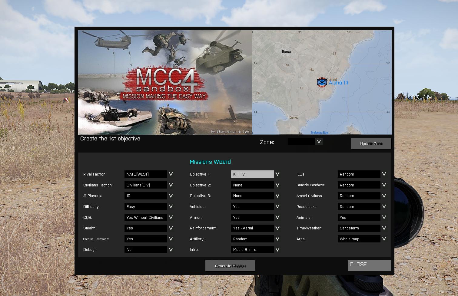 Mission Generator | MCCSandbox Wiki | FANDOM powered by Wikia