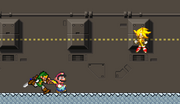 Super Sonic in A Super Mario World
