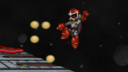 Proto Man uses Proto Buster