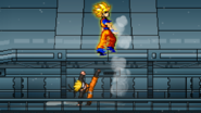SSJ Goku reeling
