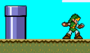 Link in A Super Mario World
