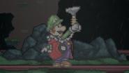 Luigi prepares his Poltergust 5000