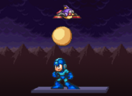 DeluPipi let go the egg to hit Mega Man