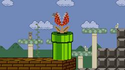 Piranha Plant on Mushroom Kingdom stage