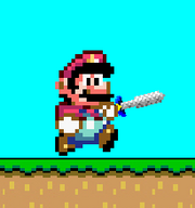 Mario in A Super Mario World