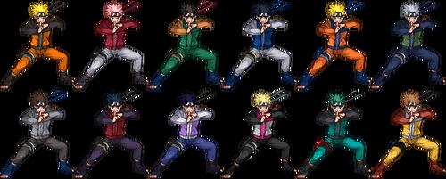 SSF2 Naruto Costumes