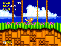 Spin Dash (Tails) in Sonic 2