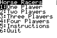Horse Racers Menu