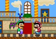 Luigi in A Super Mario World