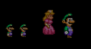 Princess Peach in A Super Mario World