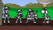 Metal Mario and his Metal pals