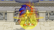 Sonic covered in flame (Beta)