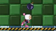 Bomberman throw a bomb