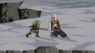 Link fighting Ichigo