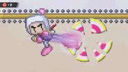 Bomberman breaking the target