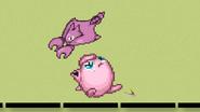 Gligar attacks Jigglypuff