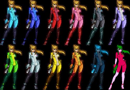 SSF2 Zero Suit Samus Costumes