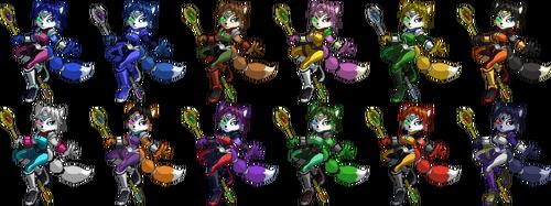 SSF2 Krystal Costumes