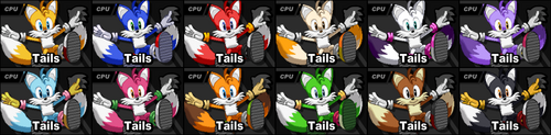 SSF2 Tails Costumes