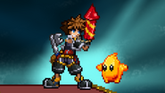 Sora holding a Firework