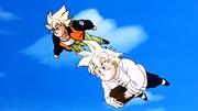 Goku floating in anime Dragon Ball Z