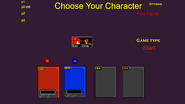 The character selection screen used in SSF Demo