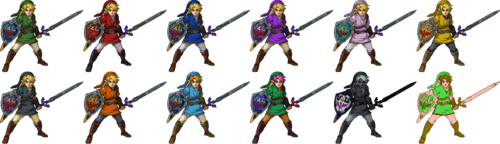 SSF2 Link Costumes