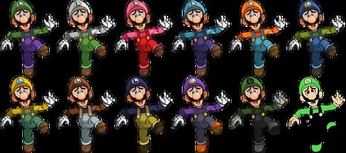 SSF2 Luigi Costumes