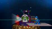 Mega Man sense the robot enemies
