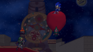 Sonic on Tingle's Balloon