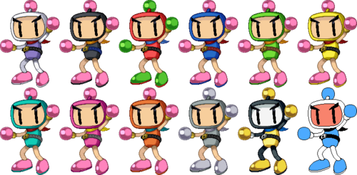 SSF2 Bomberman Costumes