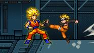 SSJ Goku being hit