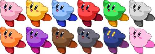 SSF2 Kirby Costumes