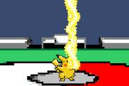 SSF Pikachu down attack - down aerial