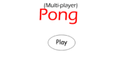 Multiplayer Pong - Title Screen