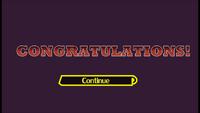 Congratulations screen in SSF
