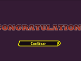 Congratulations screen