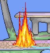 Fire Mario Eruption attacks